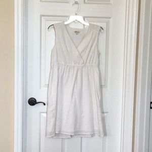 Merona sleeveless surplice white midi dress size M
